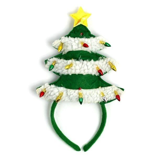 Light Up Christmas Tree Headband Neatorama