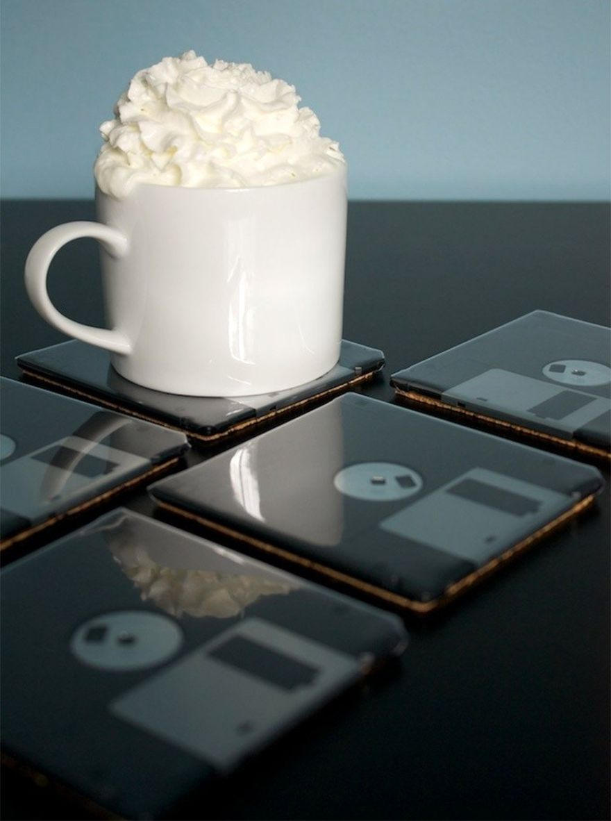 Floppy Disk Coasters For Your Beverage