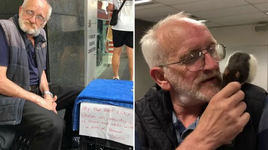 The Internet Helps Homeless Man Get Reunited With His Pet Rat