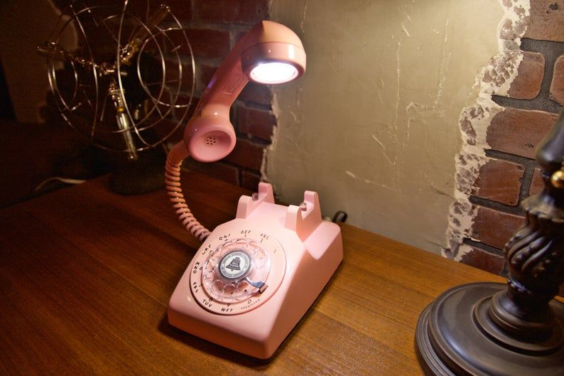 Rotary Phone Lamps and Other Retro Upcycled Furnishings