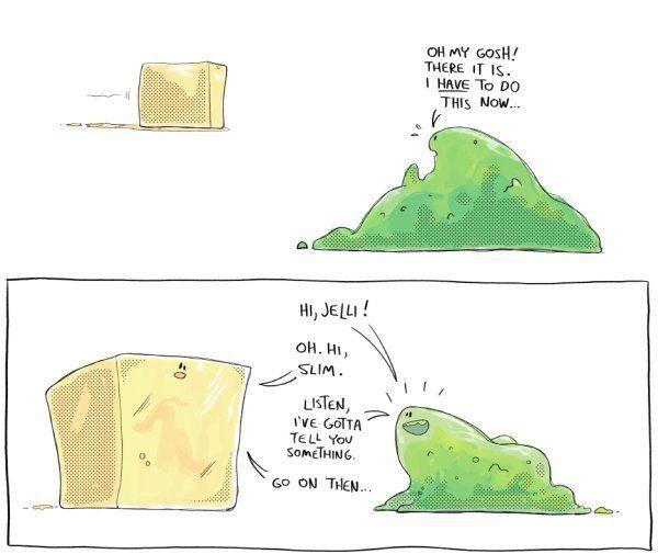 Green Slime Loves Gelatinous Cube - Neatorama