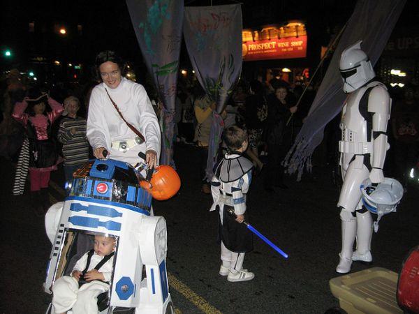Disfraz para damilias de Star Wars con bebés