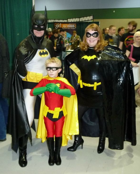 Disfraz familair de Batman y Robin