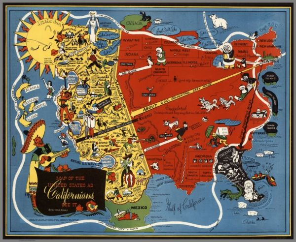 Through The Eyes Of California Neatorama - Check off map