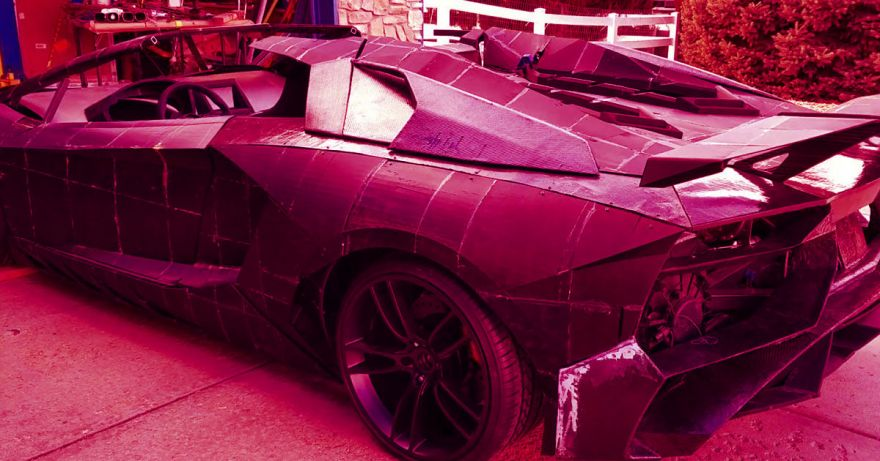 A Physicist Does 3D Printing Project with His Son: Builds A Full-Scale Lamborghini