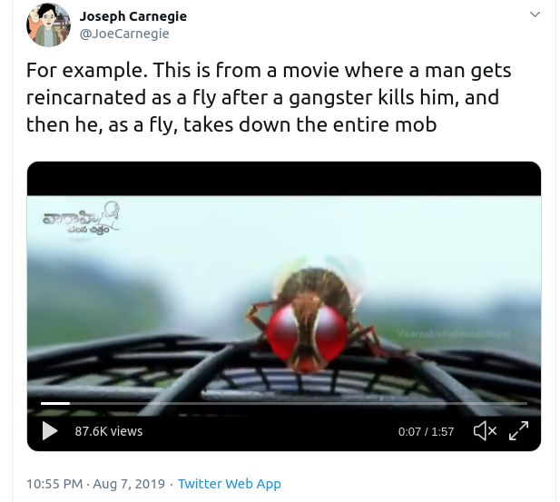 A Man Gets Reincarnated As A Fly, Proceeds To Take Down An Entire Mob As The Fly