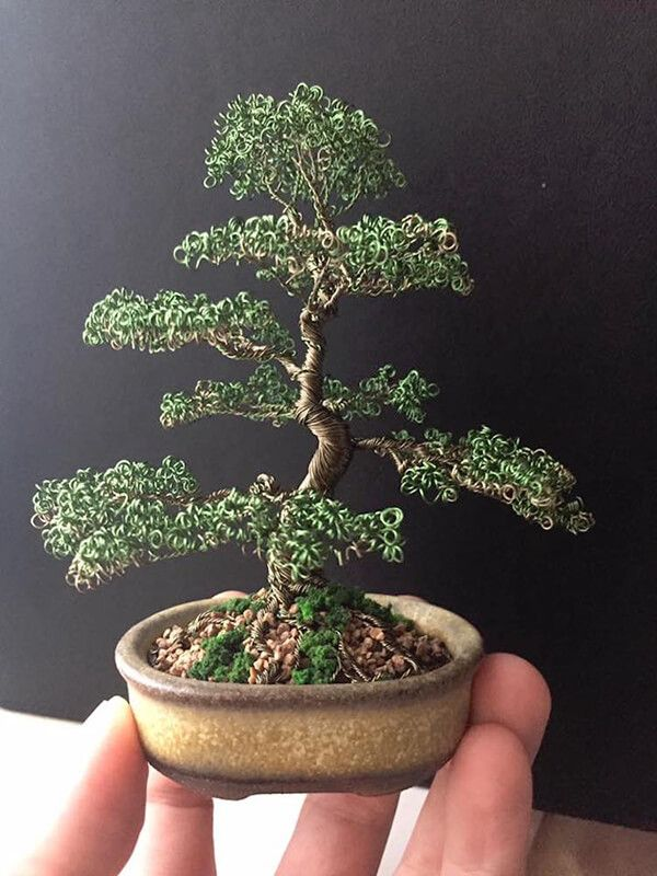 Handcrafted Wire Bonsai Trees That Will Live Forever