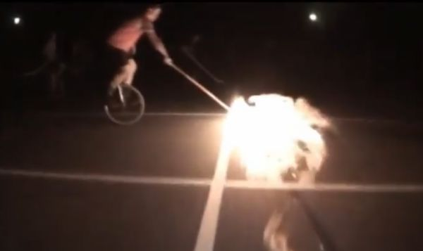 Flaming Puck Unicycle Hockey and Other Obscure Sports