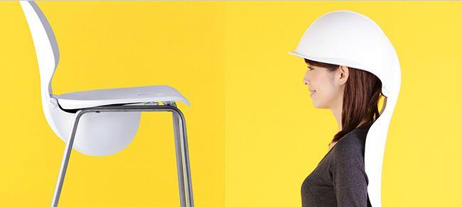 Earthquake Helmet Chair