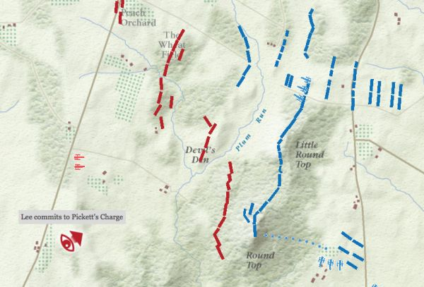 the battle of gettysburg interactive map neatorama