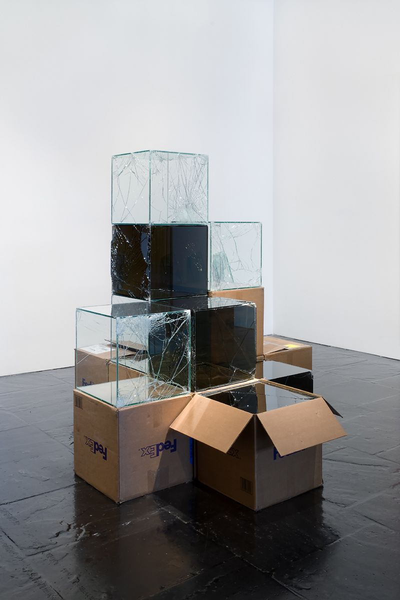 Artist Shipped Glass Inside FedEx Boxes To Produce Shattered Artworks