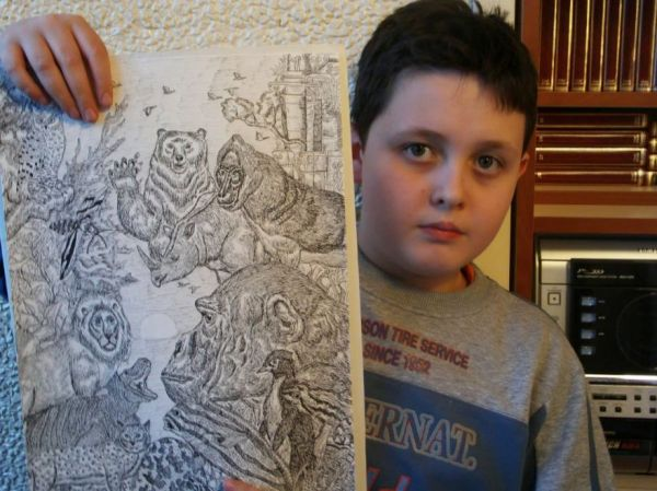 11 Year Old Boy Creates Amazingly Detailed Nature Drawings ...