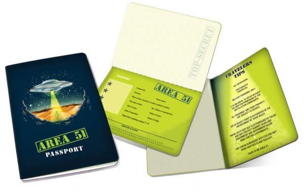 Area 51 Passport Notebook
