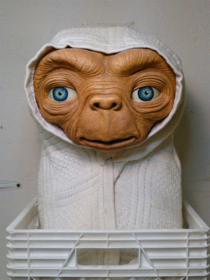 A Life-Size Replica Mask of E.T