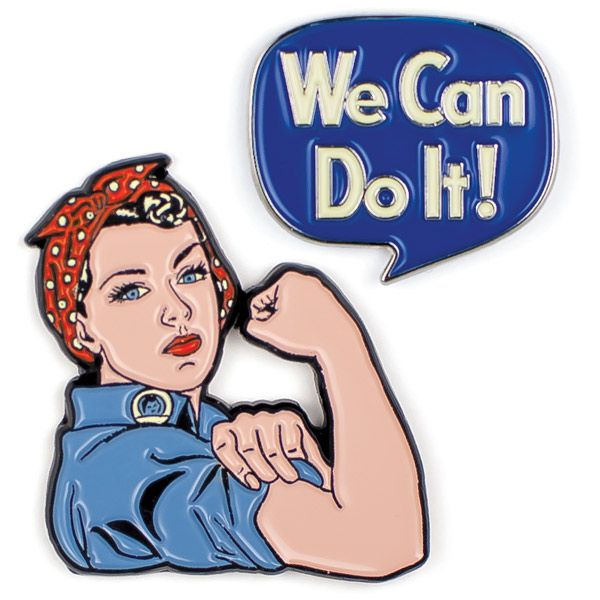 Rosie the Riveter and We Can Do It! Enamel Pin Set