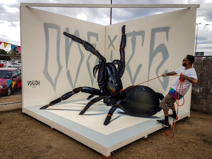 Giant Anamorphic Insects and Spiders by Odeith