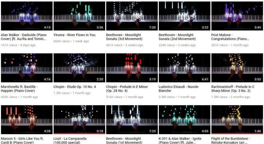 Piano + LED is like Playing Guitar Hero