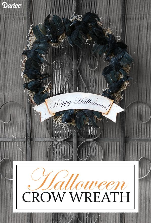 a spooky crow wreath to creep out your halloween guests neatorama