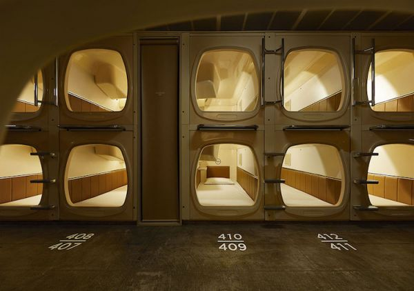 Retro Capsule Hotel In Tokyo Transformed Into A Woodsy Oasis Neatorama