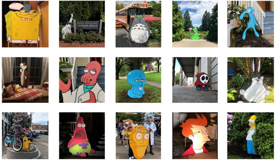 Cartoon Cutouts Popping Up All Round Portland