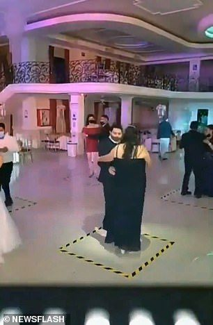 Couples Dance While Maintaining Social Distance