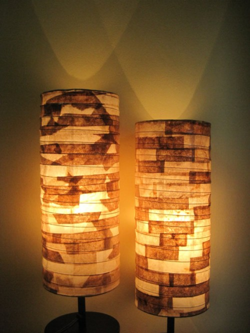 lampshades   recycled coffee filters neatorama